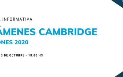 Charla informativa: Exámenes Cambridge 2020