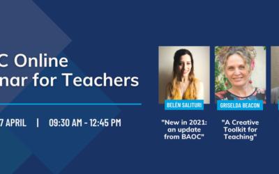 BAOC Online Seminar for Teachers – sábado 17 de abril